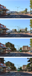3D visualisation of a Victoria Park intersection along the lines of the 'Transforming Perth' study that seeks to redevelop medium density housing and businesses along transit corridors. Carrara and Photoshop